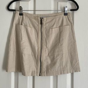 Oatmeal Skirt with braided seams